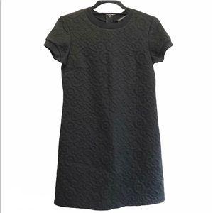 Zara Quilted Brocade Mini Shift Dress